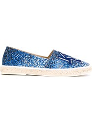 Kenzo 'Sand' Kenzo Letters Espadrilles Blue