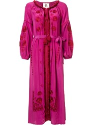 Figue 'Tula' Floral Maxi Dress Pink And Purple
