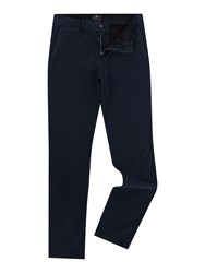 7 For All Mankind Slimmy Luxe Performance Sateen Chino Trousers Navy