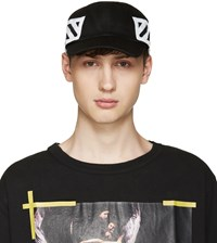 Off White Black Brushed Diagonals Cap