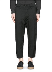 Relaxed Cropped Pants Black