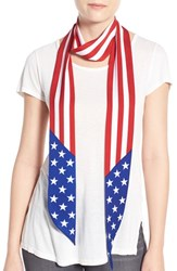 Women's Collection Xiix 'American Flag' Skinny Scarf