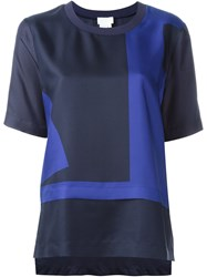 Dkny Abstract Print T Shirt Blue