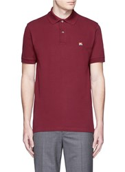 Paul Smith Flag Embroidery Polo Shirt Red
