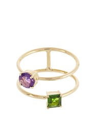 Ileana Makri Diopside Rodolite And Yellow Gold Ring Yellow Gold
