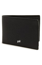 Porsche Design 'Fc 3.0' Leather L Fold Wallet Black