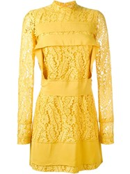 N 21 No21 Long Sleeve Lace Dress Yellow And Orange
