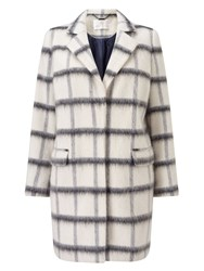 Jacques Vert Oversized Check Coat Multi Coloured Multi Coloured