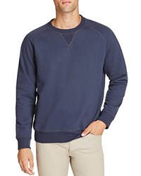 Uniform Heathered Color Block Sweatshirt Navy
