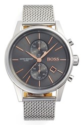 Boss Men's Jet Chronograph Mesh Strap Watch 41Mm