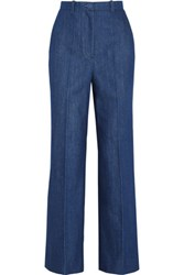 Topshop Unique David High Rise Wide Leg Jeans Mid Denim
