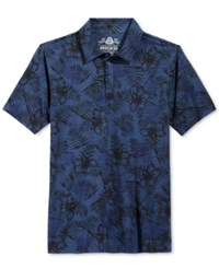 American Rag Men's Tonal Floral Print Polo Only At Macy's Blue