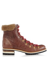 Rupert Sanderson Hamilton Leather Boots Tan Multi