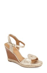 Women's Jack Rogers 'Clare' Rope Wedge Leather Sandal 4' Heel
