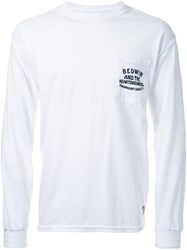 Bedwin And The Heartbreakers Logo Print T Shirt White