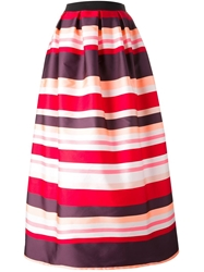 P.A.R.O.S.H. Long Striped Skirt Pink And Purple