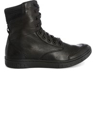 Diesel Brown S Boulevard Leather Laced Boots