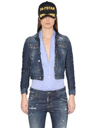 Dsquared Perfetto Washed Cotton Denim Jacket