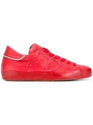 Philippe Model Lateral Patch Sneakers Red