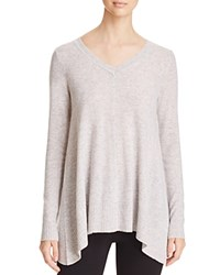 Bloomingdale's C By Arched Hem Cashmere Sweater Cement