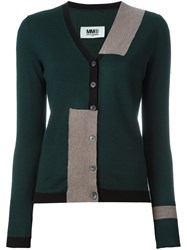 Maison Martin Margiela Mm6 Striped Cardigan Green