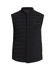 Vince Quilted Down Nylon Gilet Black