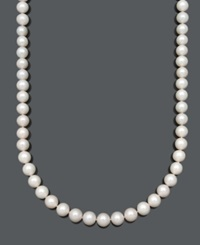 Belle De Mer Pearl Aa Cultured Freshwater Pearl Strand Necklace 10 1 2 11 1 2Mm In 14K Gold