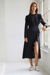 Boutique Polka Deconstructed Dress By Navy Blue