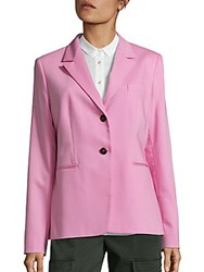 Jil Sander Two Button Wool Blend Blazer Pink