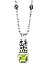 Women's Lagos 'Caviar Color' Pendant Necklace Green Quartz