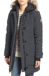 Canada Goose Women's 'Lorette' Hooded Down Parka With Genuine Coyote Fur Trim Graphite