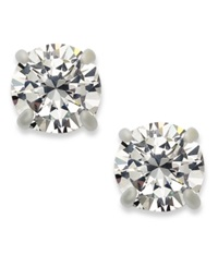 Inc International Concepts Silver Tone Round Cubic Zirconia Stud Earrings 4 Ct. T.W.