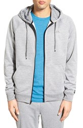 Men's Rvca 'Therman' Zip Hoodie Grey Noise