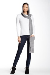 Joie Rosalee Hooded Wool Scarf Gray