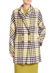 Lafayette 148 New York Windsor Plaid Katelyn Peacoat Plantain Multi