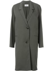 Christophe Lemaire Lemaire Single Breasted Coat Green