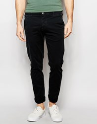 Selected Homme Chinos In Skinny Fit Black