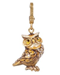 Albert Owl Charm Jay Strongwater Multi Colors