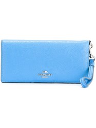 Coach Flap Rectangular Wallet Blue