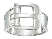 Shinola Detroit Sterling Silver Wide Buckle Ring