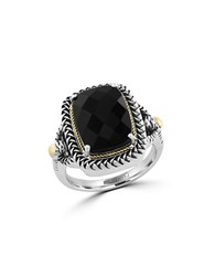 Effy Eclipse Onyx Sterling Silver And 18K Yellow Gold Ring Black