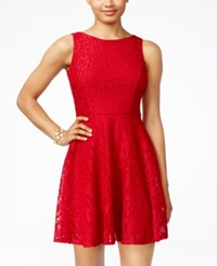 Speechless Juniors' Glittered Lace Dress Only At Macy's Cherry Red