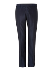 Kenneth Cole Pinsent Wool Silk Tonic Trousers Blue