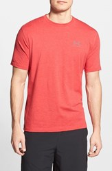 Men's Under Armour 'Sportstyle' Charged Cotton Loose Fit Logo T Shirt Red Steel