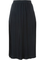 Cacharel Pleated Midi Skirt Blue