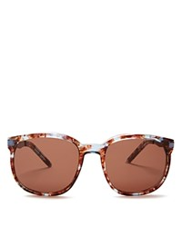 Wildfox Couture Geena Square Sunglasses 55Mm Coconut Blue Multi Brown Solid