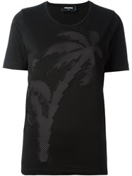 Dsquared2 Palm Tree T Shirt Black