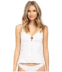 Nautica Absolutely Shore Rem Soft Cup Ring Tankini Na24146 White Women's Swimwear