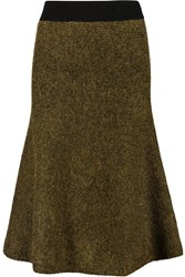 Opening Ceremony Metallic Chuny Knit Skirt Green