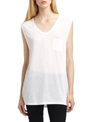Alexander Wang Classic Muscle Tank White Black Heather Grey